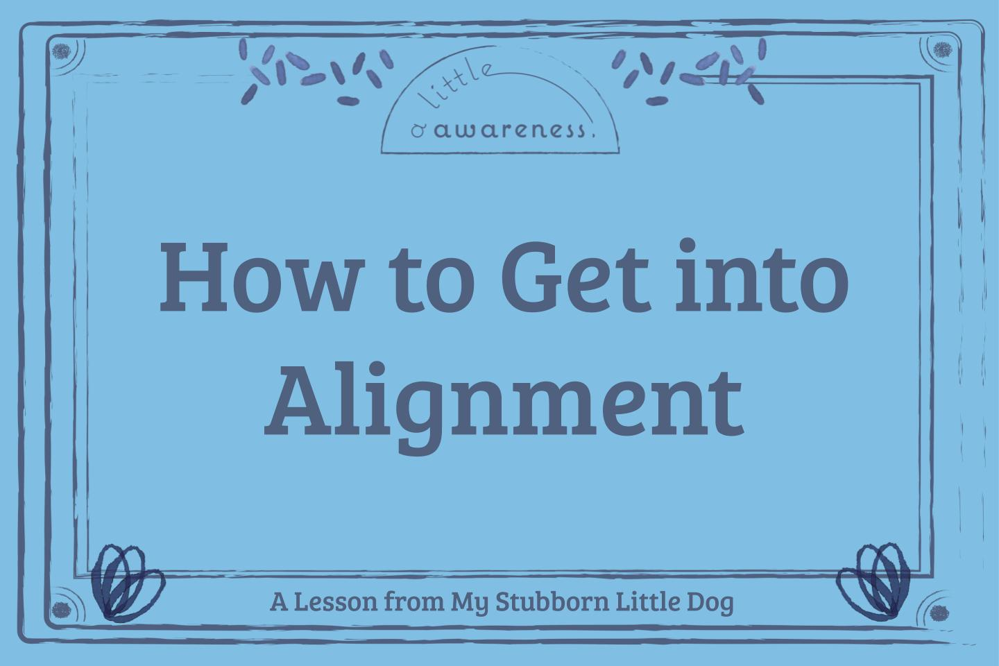 How to Get Into Alignment